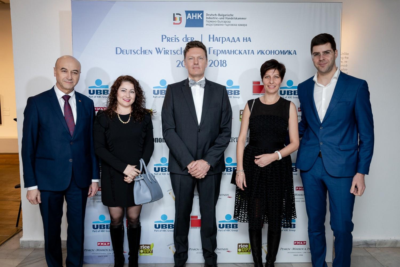 """""""Бараж Груп"""" ЕООД беше един от водещите спонсори на събитието Награда на германската икономика 2018"""