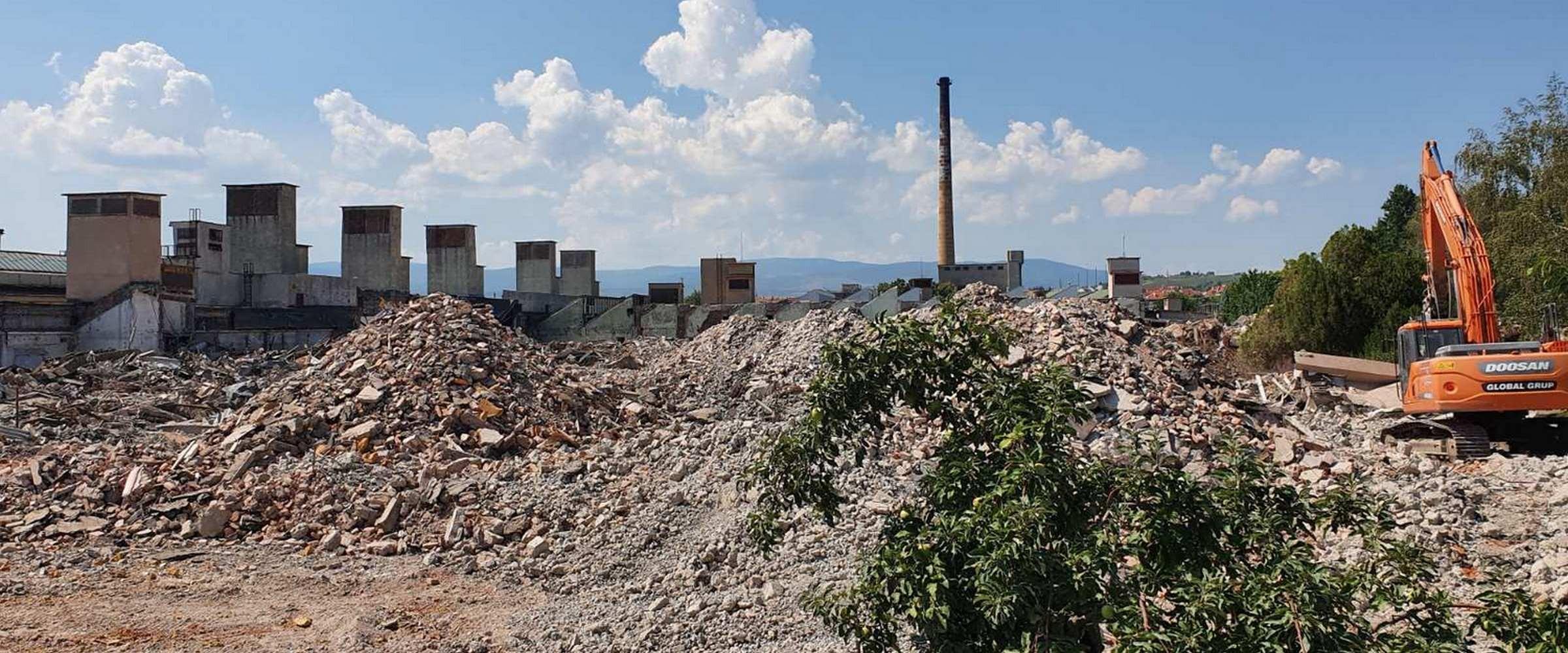 Оттобок Етап II - Разрушаване на съществуващи сгради