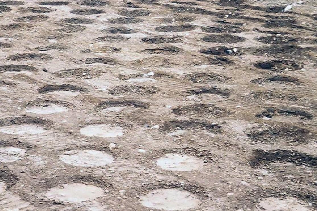 Земна повърхност след направени проходки с Импулсен уплътнител