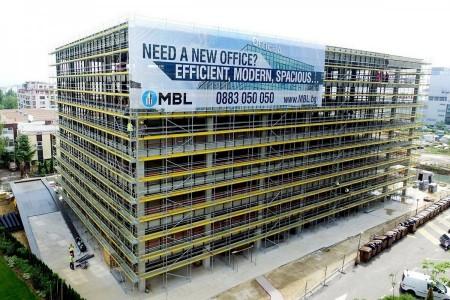 """Фасадното скеле на """"Офис А"""" е обявено за Проект на месеца от """"Пери България"""""""